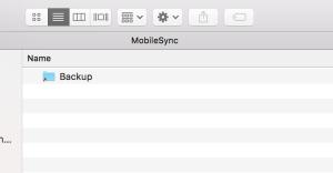 mobilesync folder